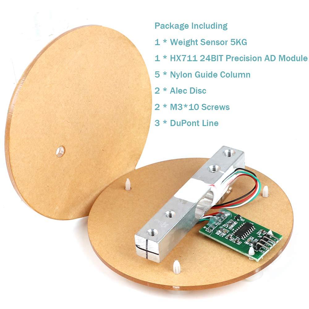 Amazon.com: MakerHawk Digital Load Cell Weight Sensor HX711 AD Converter Breakout Module 5KG Portable Electronic Kitchen Scale for Arduino Scale(5KG): ...