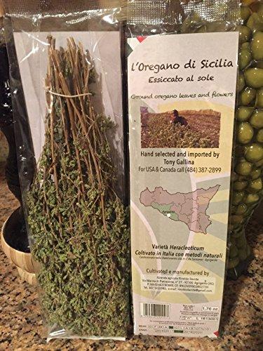 Imported Sicilian Oregano 50 grams (1.76 oz.) - Largest pack on Amazon - Hand selected Italian Oregano from Sicily - L'Oregano di Sicilia Essiccato al sole - Ground Oregano leaves & Flowers