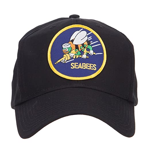 89445c4c2b2 E4hats US Navy Seabees Logo Patched Cap - Black OSFM at Amazon Men s ...