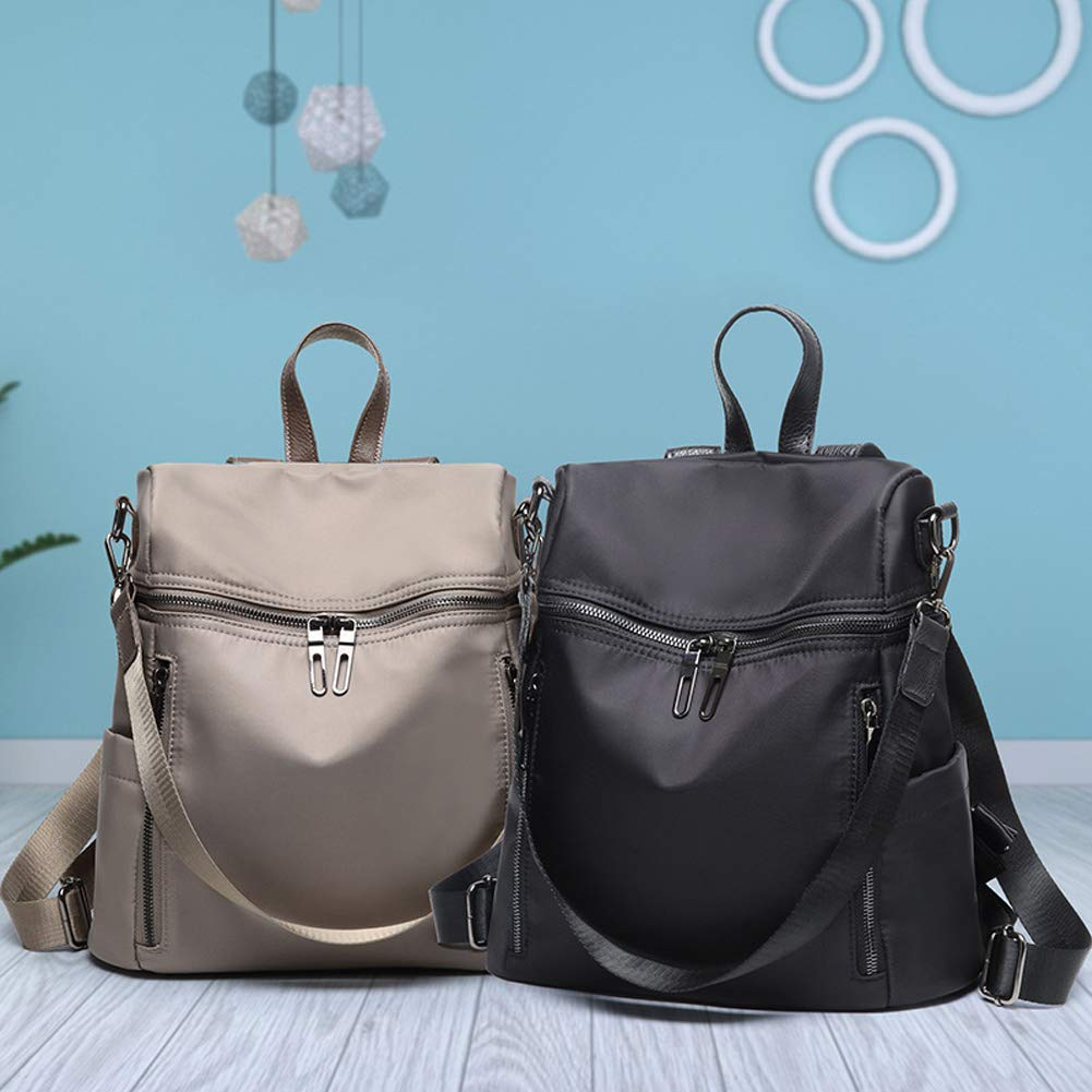 Women Backpack Purse Lightweight Fashion Canvas Ladies Handbag School Shoulder Bag Waterproof Travel Rucksack (gray) by XMeng (Image #7)