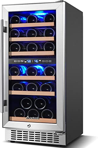 Aobosi-15-inch-30-Bottle-Wine-Refrigerator-Built-in-or-Freestanding-Wine-Fridge