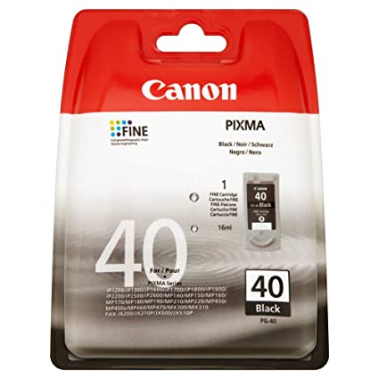 Canon PG-40 - Cartucho de Tinta para impresoras (Negro, Estándar ...