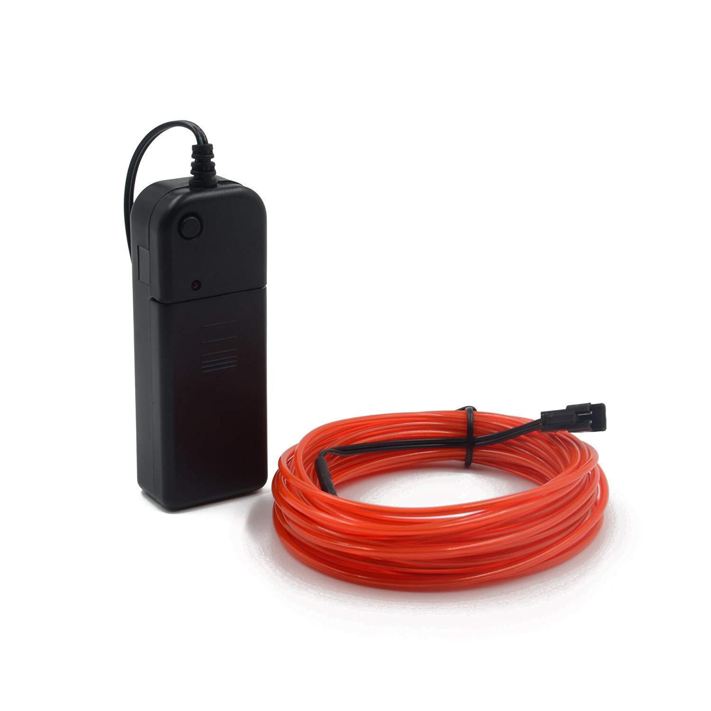 verde Cable EL 16pies//5m 3 modos de luz Controladores de paquete de cables de electroluminiscencia de ne/ón con luz de ne/ón con luz de alto brillo para la decoraci/ón de la fiesta de Navidad Pub