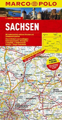 MARCO POLO Karte Sachsen 1:200.000 (MARCO POLO Karten 1:200.000)