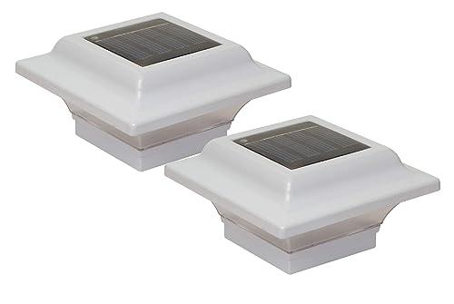 Classy Caps SL082W 2.5×2.5 Imperial Solar Post Cap – 2 Pack White