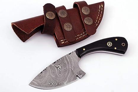 Grace Knives - Cuchillo de Damasco para pelar con Mango de Cuerno ...