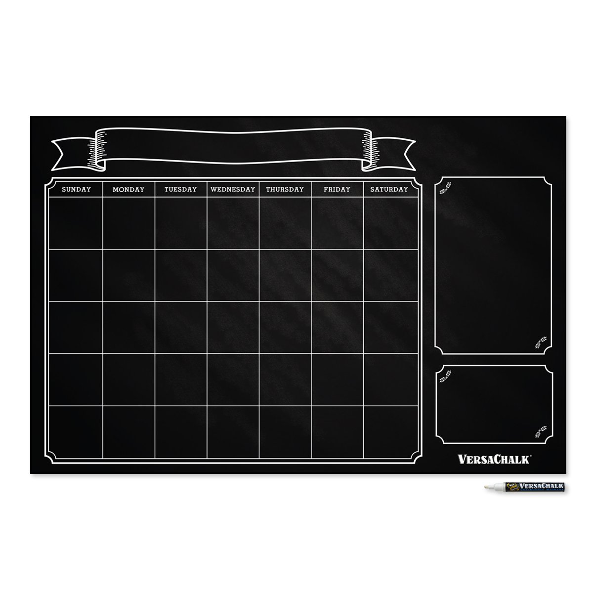 Amazon.com : Large Erasable Chalkboard Calendar Wall Decal Sticker   24