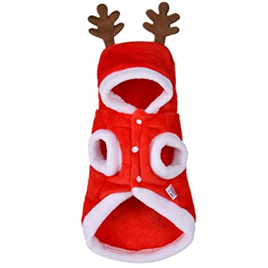 Amazon.com: NGGERT Christmas Pet Costume Santa Claus Costume Winter Cotton Clothes: Clothing
