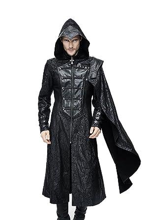 Manteau long noir homme gothique