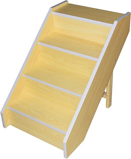 LiRen-Shop Escaleras para Mascotas Madera, 4 peldaños, Ideal para Perros pequeños, Gatos, tamaño Mediano: Amazon.es: Productos para mascotas