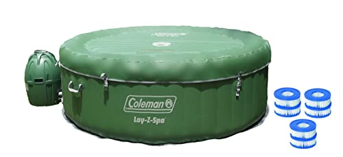 Coleman Lay-Z-Spa Inflatable 4-Person Hot Tub w/ Six Filter Cartridges