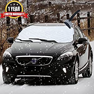 Car Snow Cover Car Smart Cover Windshield Cover For Sun Shade Protector with Cotton Thicker Snow Protection Cover Fits Most of Car (car-cover-7012)