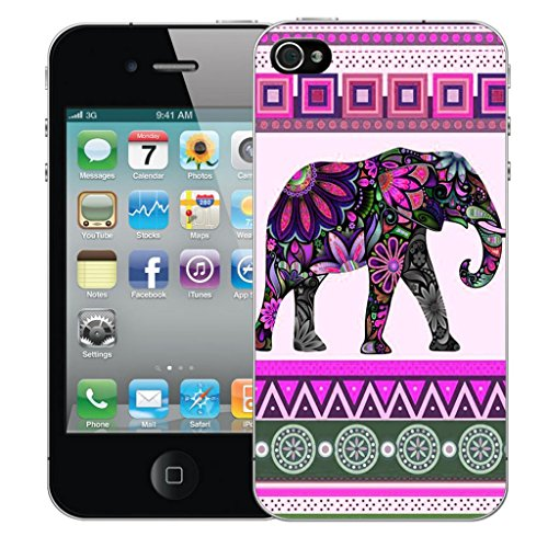 Mobile Case Mate iphone 4s Dur Coque couverture case cover Pare-chocs - pink elephant Motif avec Stylet