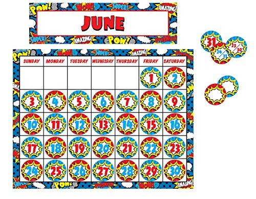 Teacher Created Resources Superhero Calendar Pack (6890) -