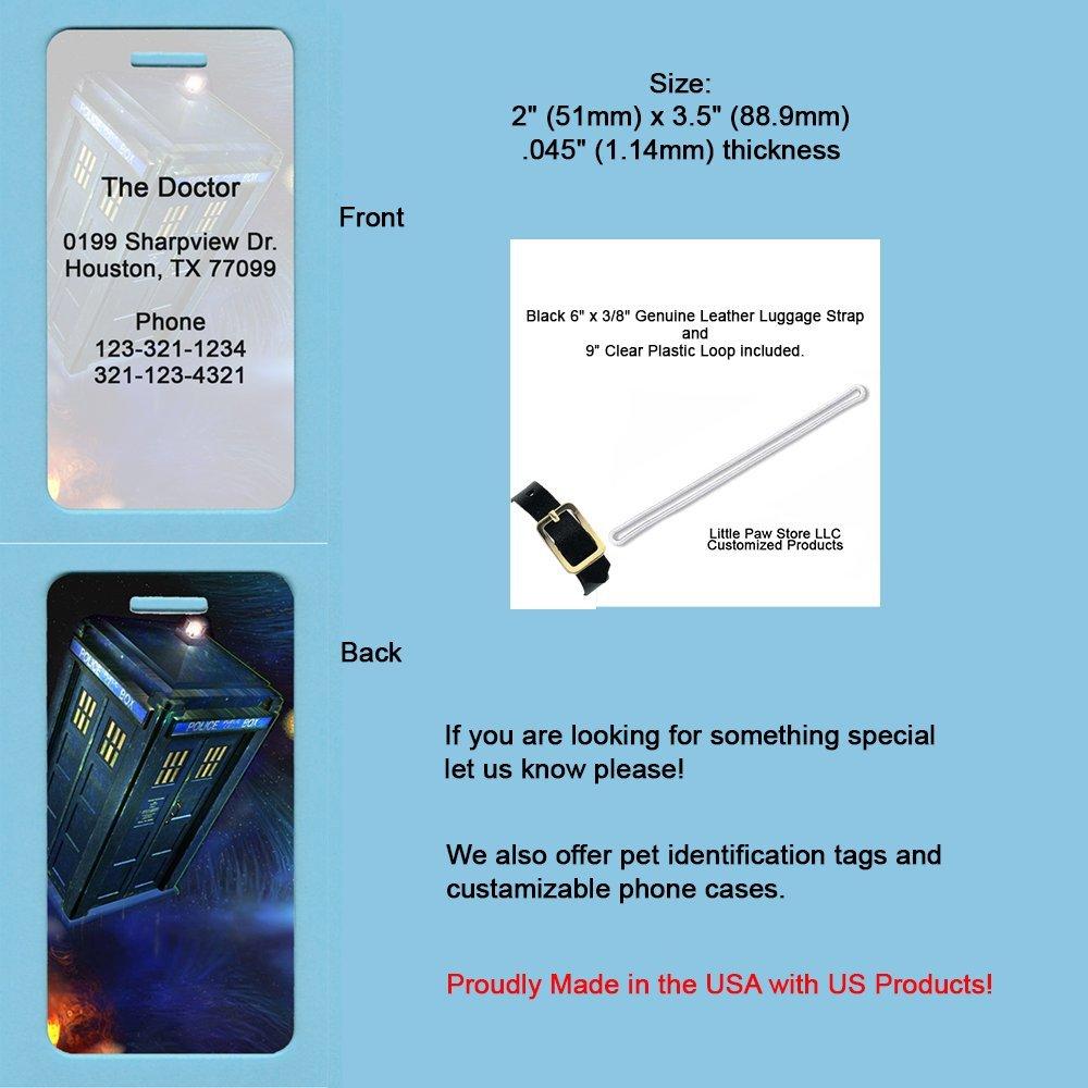 US MadeカスタマイズFlying TardisデザインAluminum Luggage /ペットキャリアタグ   B073J19XRX