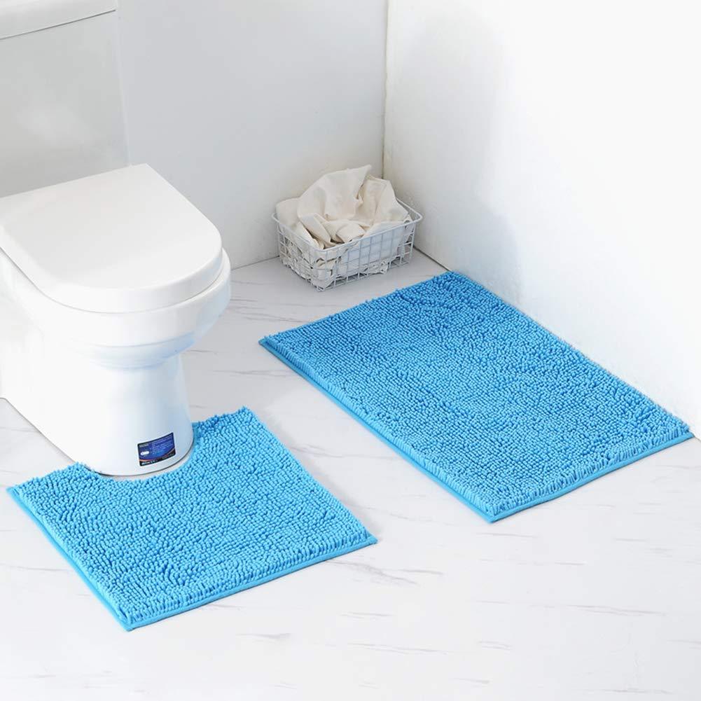 Juego de alfombrillas de baño, 1 alfombra de inodoro en forma de U ...