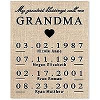 Gift for Grandma, Personalized Gift for Grandma, Grandma Birthday Gift, Mothers Day Gift for Grandma, To Grandma From Granddaughter, Grammy Gift