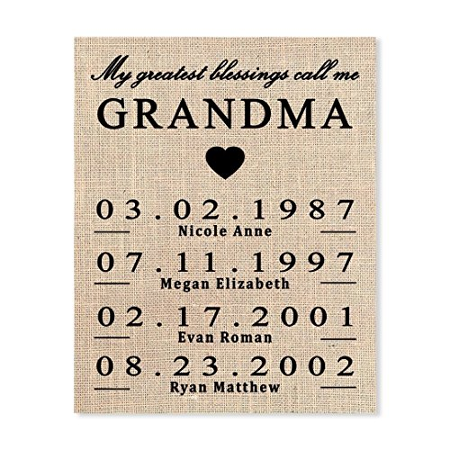 Gift for Grandma, Personalized Gift for Grandma, Grandma Birthday Gift, Mothers Day Gift for Grandma, To Grandma From Granddaughter, Grammy Gift