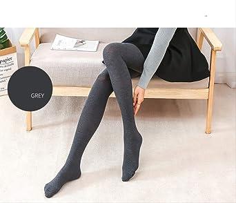 WERNG Otoño Invierno Cálido Medias De Mujer Medias De Algodón Sólido Sexy Cintura Elástica Panti Mancha Medias Moda Medias De Mujer Talla Única Gris Oscuro: Amazon.es: Ropa y accesorios