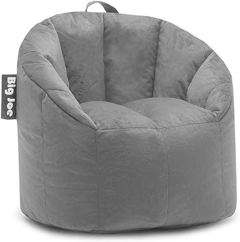 Big Joe, 0 Milano Gray Plush Bean Bag Chair