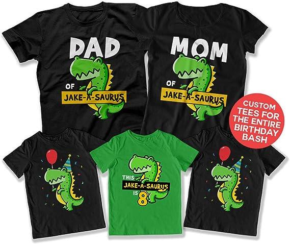 Amazon.com: Camisa de dinosaurio para niños de 4º cumpleaños ...
