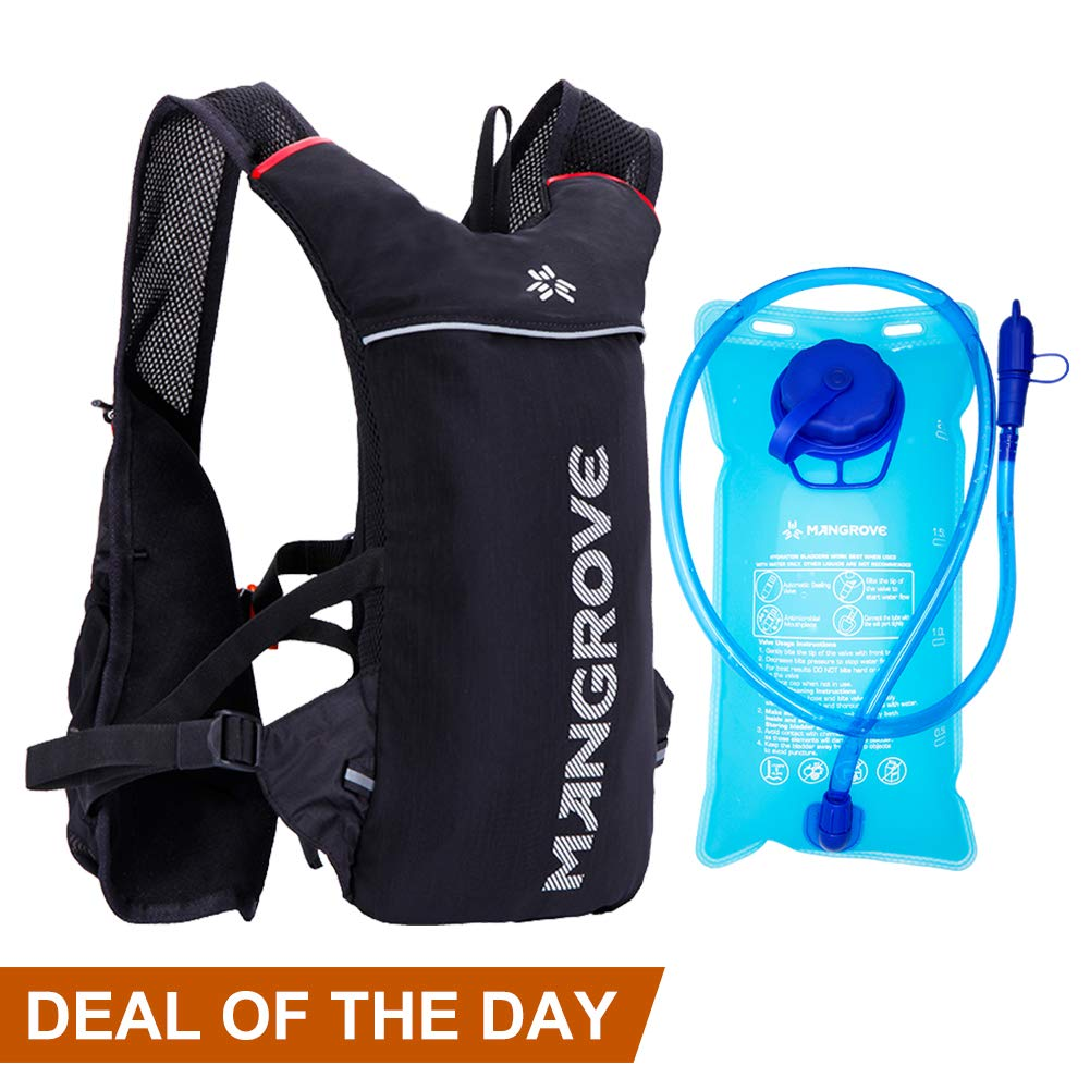Mangrove Ultralight Hydration Pack with 70 oz 2L Backpack Water Bladde for Men Women, Hydration Backpack Water Pack for Cycling Hiking Camping Running by Mangrove