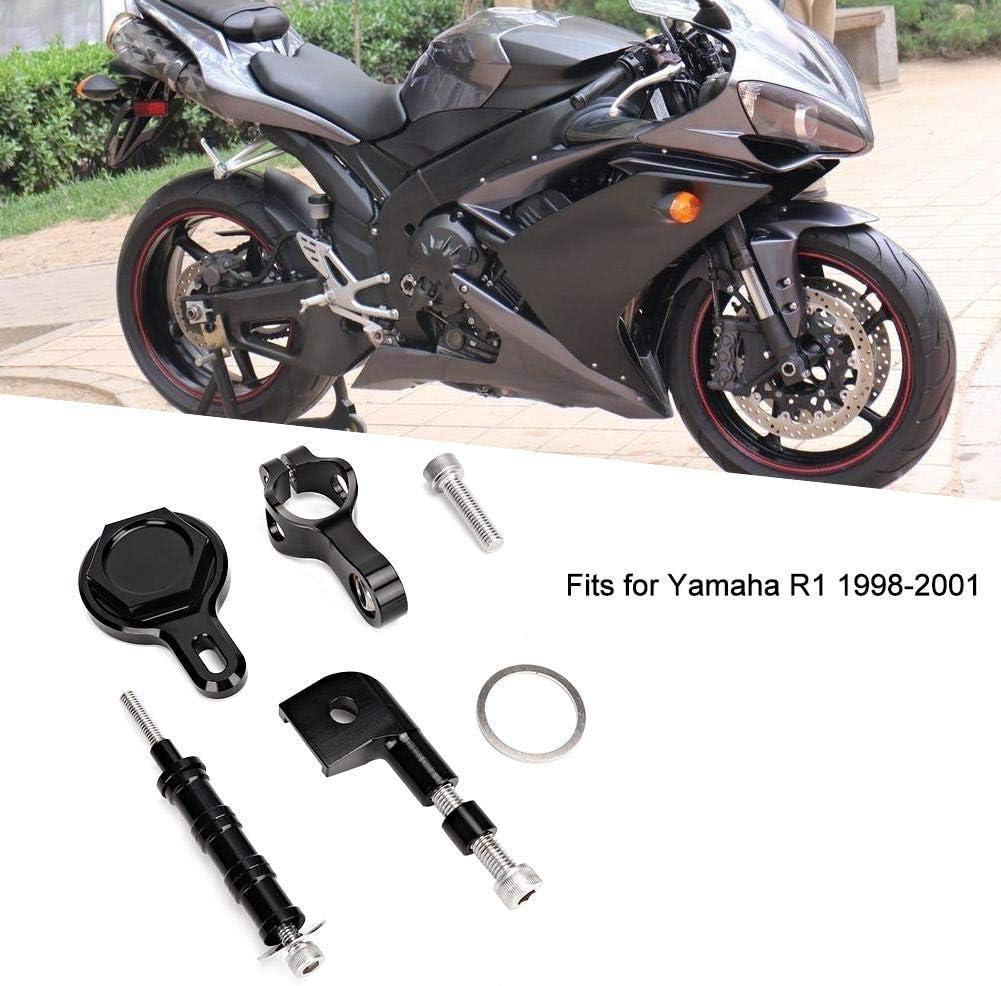 Gorgeri Motorcycle Damper Mounting Bracket Steering Stabilizer Fits for R1 1998-2001 Black