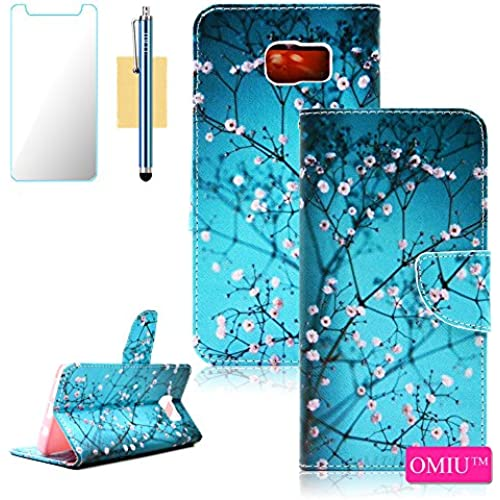 S7 Edge Case, Galaxy S7 Edge Case, OMIU(TM) Slim PU Leather Card Slots Stand Wallet Case For Samsung Galaxy S7 Sales