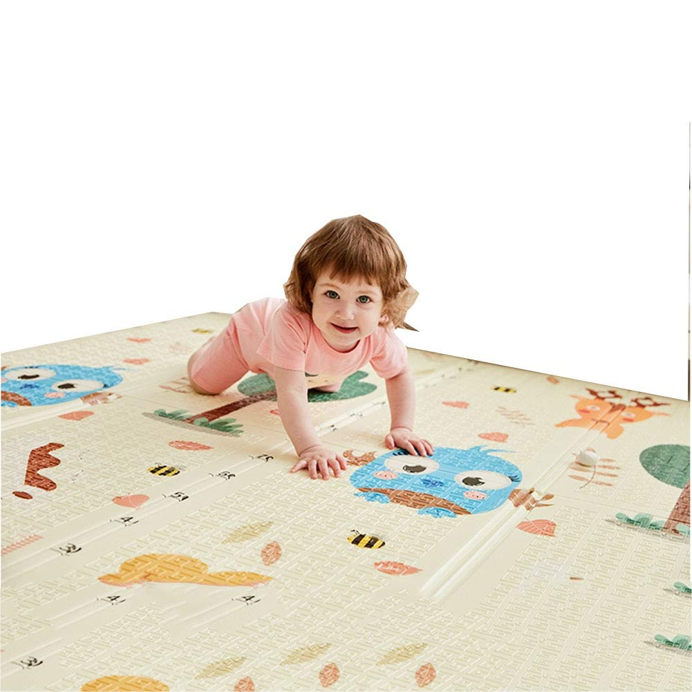 B 150cmx180cmx1cm HLMIN Double Sided Durable Baby Crawling Mat Play Carpet Soft Foam Nontoxic Durable Waterproof (color   B, Size   150cmx180cmx1cm)