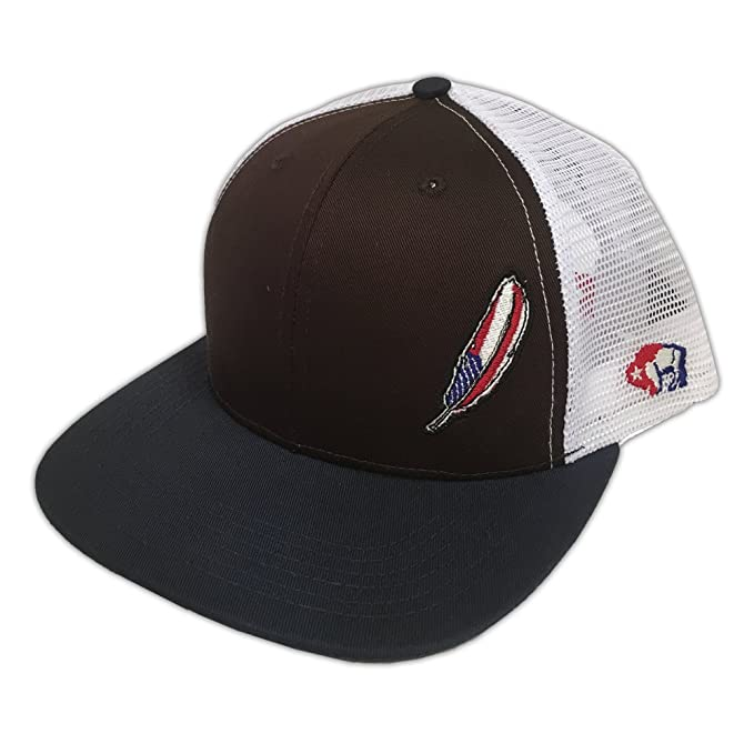 8274f3f38857a Resistol Hooey Brand Six Panel Brown Front with White Mesh Snapback Hat -  9501T-BRWH  Amazon.ca  Clothing   Accessories