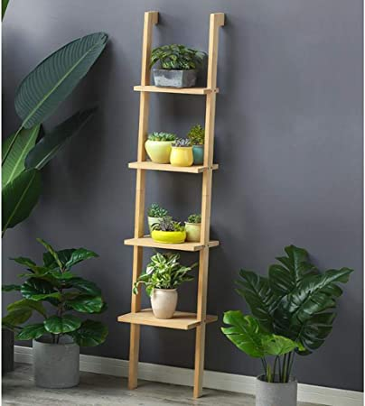 Dsrgwe Escalera para Flores, Estante de Madera para Flores, 4 estantes Escalera de pie Exhibición Interior Soporte de Planta 160 X 35 CM (Color : B): Amazon.es: Hogar