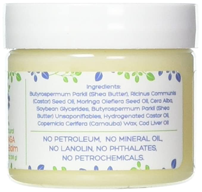Mummys Miracle Non GMO Natural Moringa Nipple and Lip Balm Food Grade Nursing Cream Mom Lanolin-free for Breast-feeding Mothers. For Lips 2 oz.