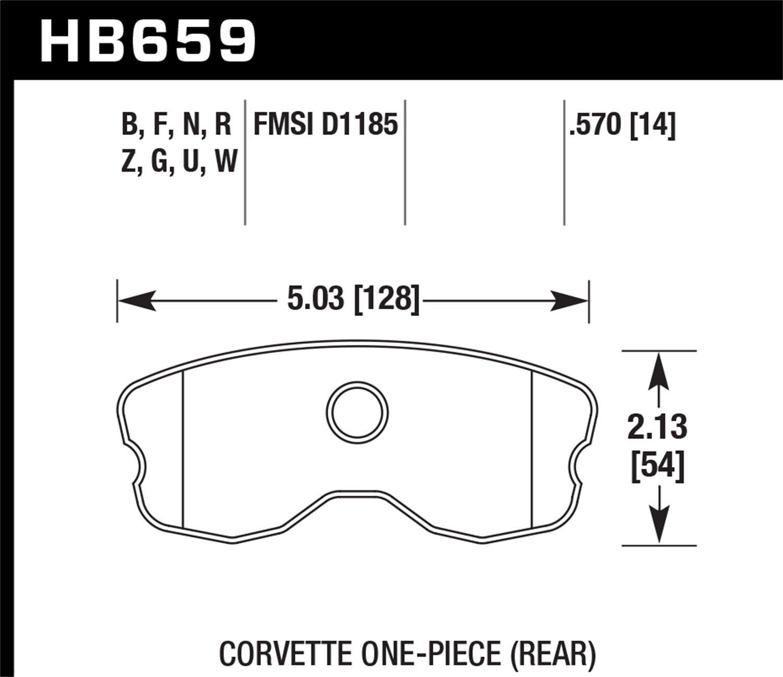 High Performance Street 5.0 Brake Pad Hawk Performance HB659B.570