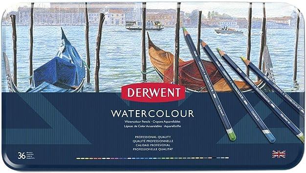 Derwent Colored Pencils,Drawing,Art WaterColour Pencils,Metal Tin,36Count 32885