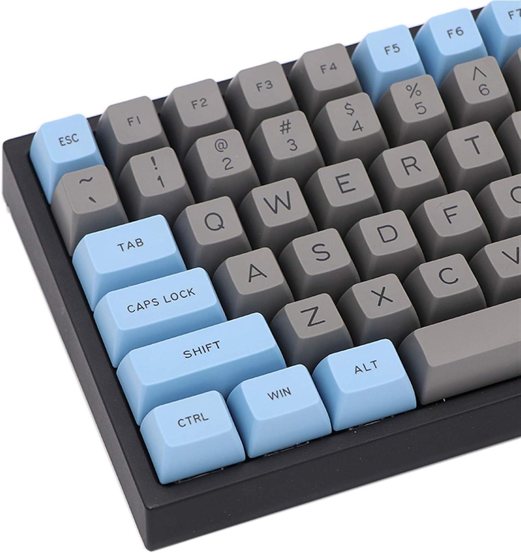 lxxiulirzeu 127Keys Gris Azul KeyCaps Establecido para ...