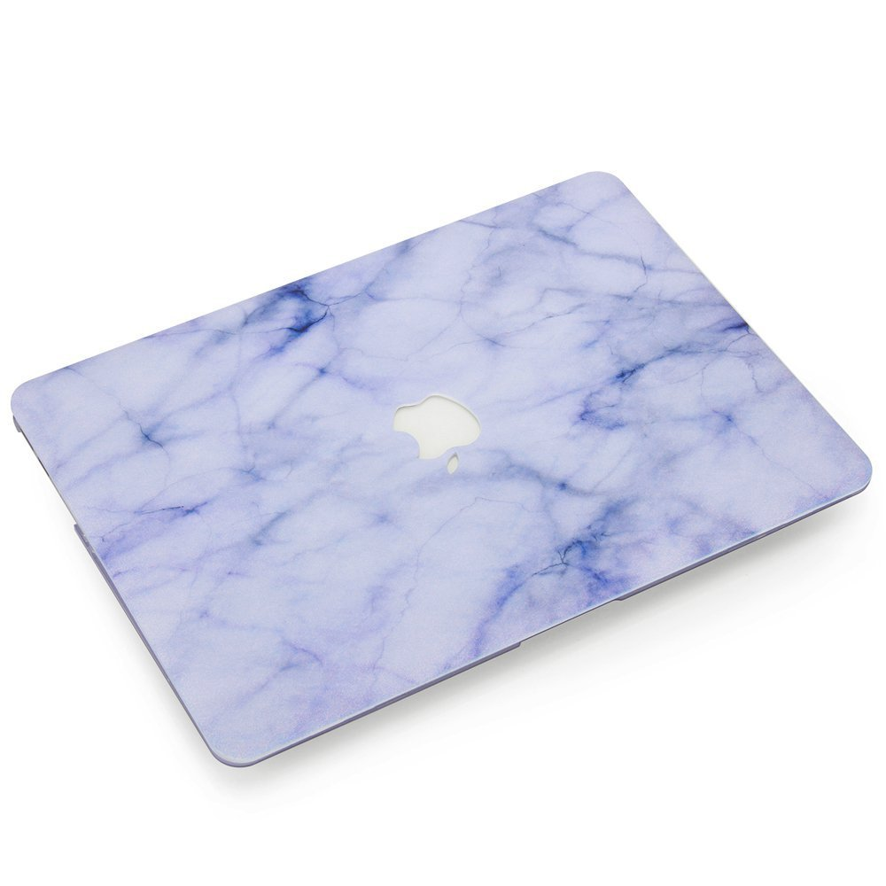 YMIX MacBook Air 13 Case, Rubberized Plastic Hard Shell Protective Case Cover for Apple MacBook Air 13 Inch (A1466 / A1369), Marble White by YMIX (Image #2)