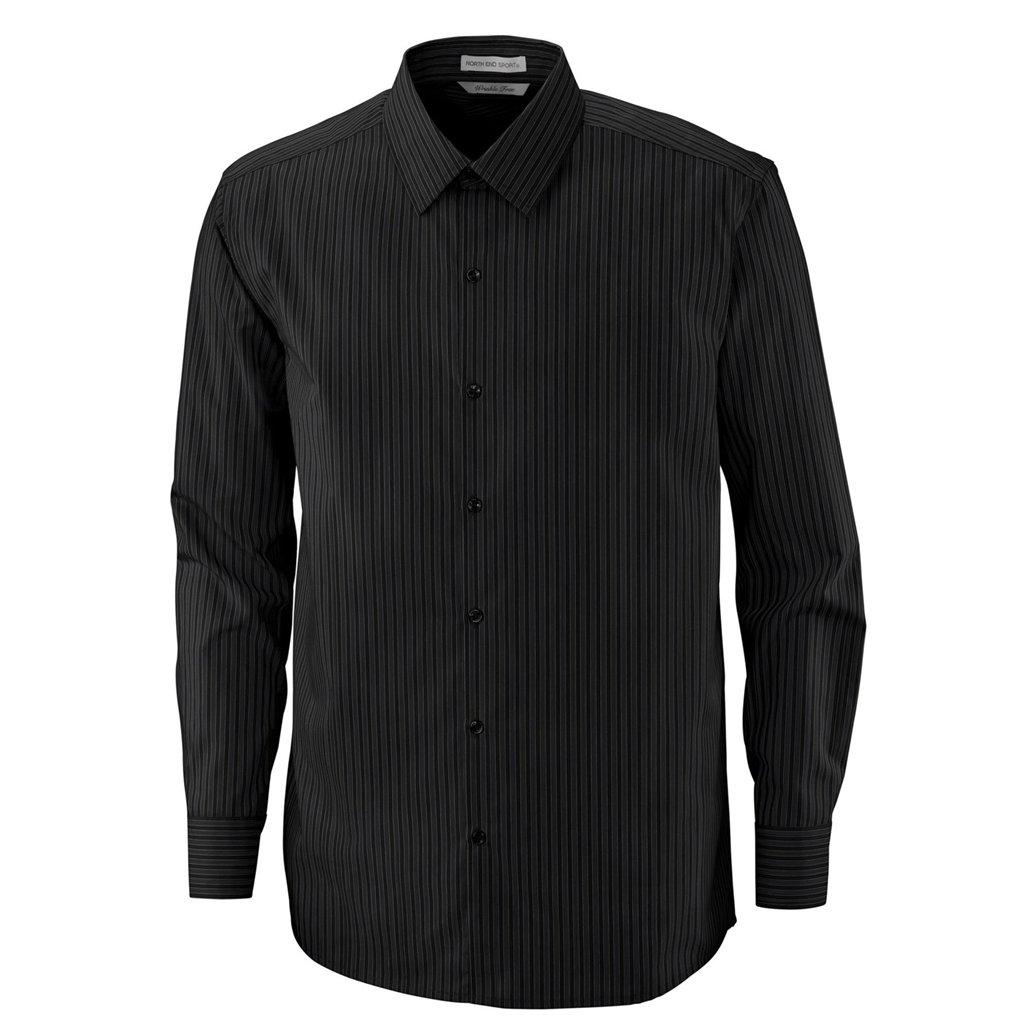 Ash City Mens Boardwalk Performance Shirt (Small, Black/Carbon)