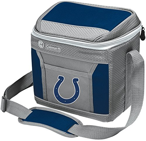 Coleman NFL Soft-Sided Insulated Cooler Bag, 9-Can Capacity with Ice, Indianapolis Colts ()