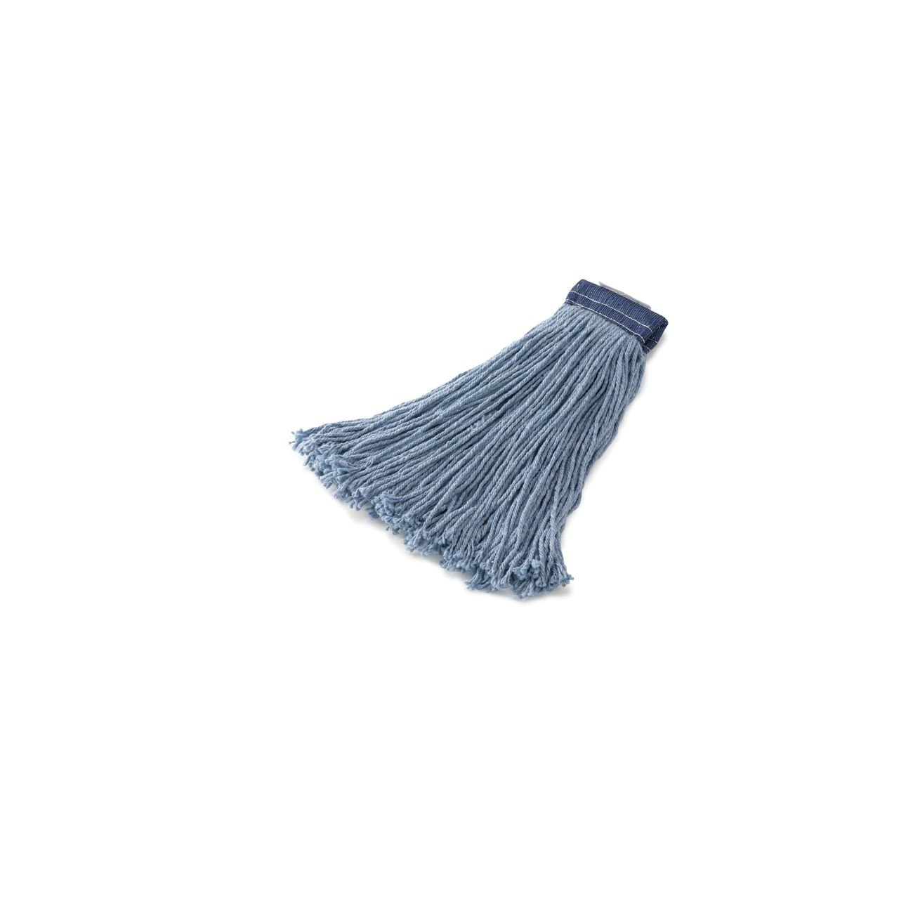 Rubbermaid Commercial Products FGF55800BL00 Premium 8-Ply Cut-End Blend Mop, 24 oz, 5'' Blue Headband (Pack of 12)