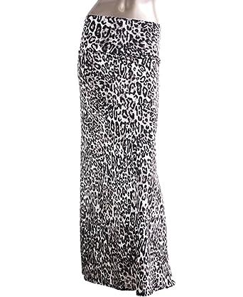 fa3b125788ee Leopard Print Maxi Skirt, Animal Print Long Skirts (Medium) at Amazon  Women's Clothing store: