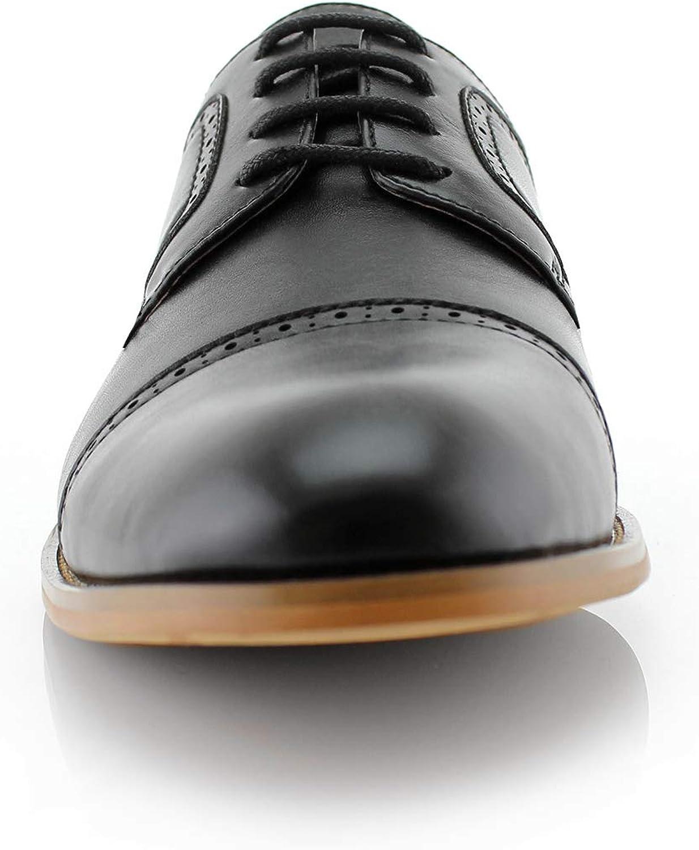 Ferro Aldo Jared MFA19607L Mens Classic Brogue Derby Perforated Oxford Dress Shoes
