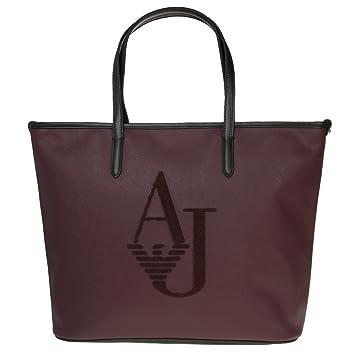 af9041b1 Amazon.com: Armani Jeans Embossed Logo Womens Handbag Maroon