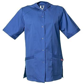 Planam - Bata de limpieza de manga corta para mujer, color azul kornblau Talla:50: Amazon.es: Bricolaje y herramientas