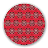 Uneekee Flowerheart Mandala Lazy Susan: Large, pure birch wooden Turntable Kitchen Storage