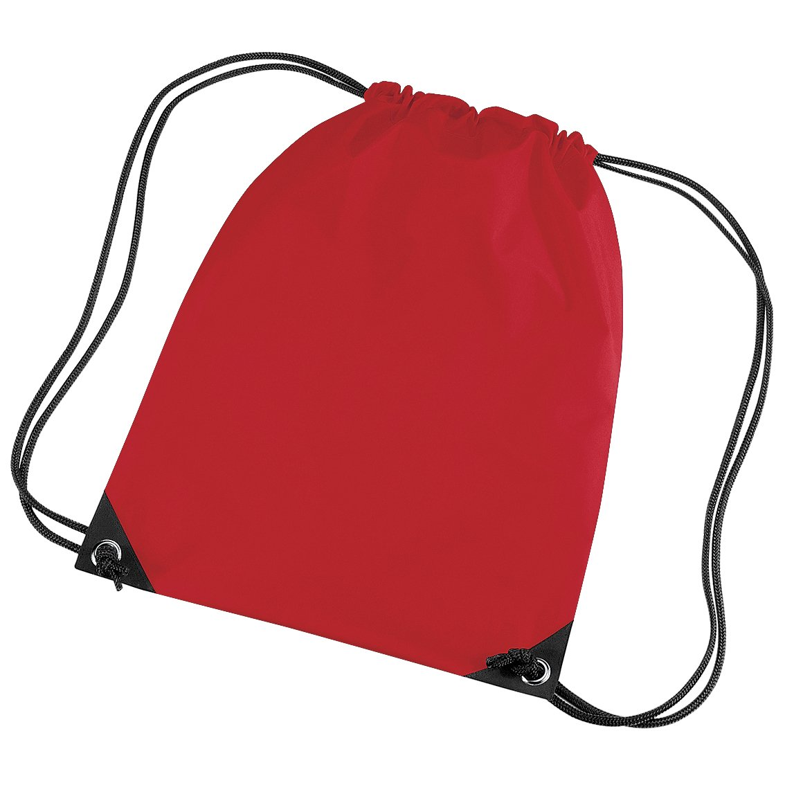 Bright Red 11 Liters One Size Bagbase Premium Gymsac Water Resistant Bag