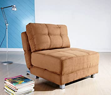 Amazoncom Gold Sparrow New York Brown Convertible Chair Bed