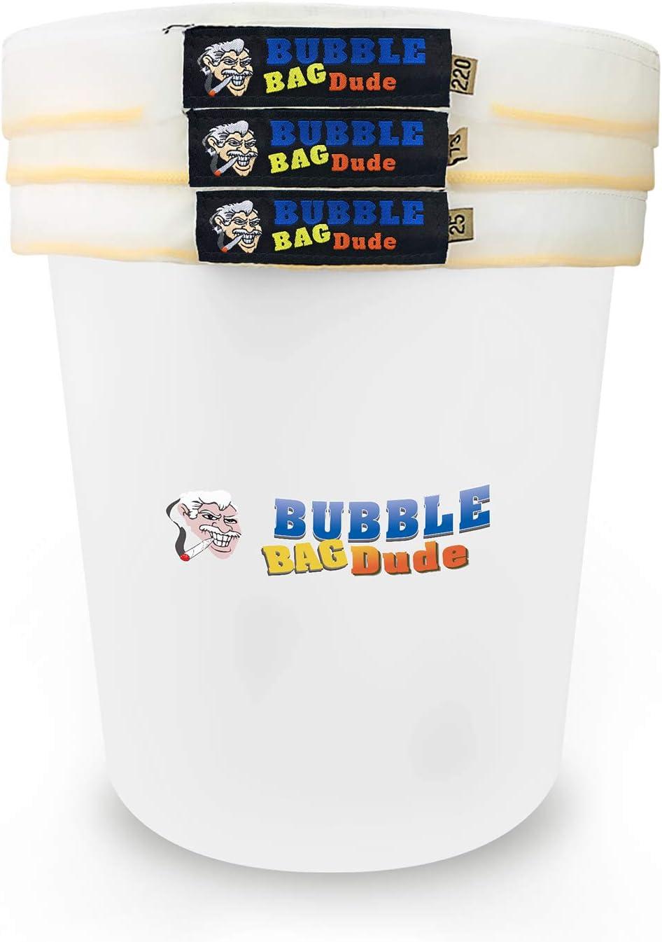 BUBBLEBAGDUDE - Kit de extracción de hielo para hash de hierbas, 5 galones, 3 bolsas de malla, viene con pantalla de prensado y bolsa de almacenamiento
