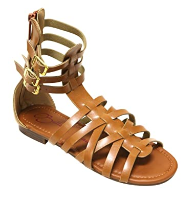 Couture-2 Women's open toe gladiator zip closure buckle straps sandals