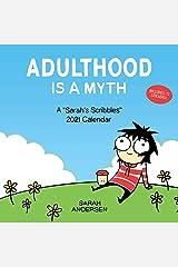 Sarah's Scribbles 2021 Wall Calendar: Adulthood Is a Myth Agenda ou Calendário