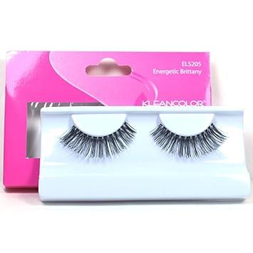 6f1f600ba68 Amazon.com : 1 PAIR KLEANCOLOR EYE LASHES (ELS205-ENERGETIC) 100% HUMAN  HAIR FALSE + FREE EARRING : Fake Eyelashes And Adhesives : Beauty